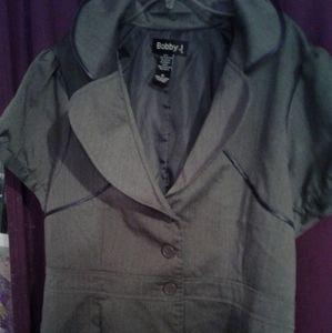 Nwot tag shortbsleeve burron up suit jacket